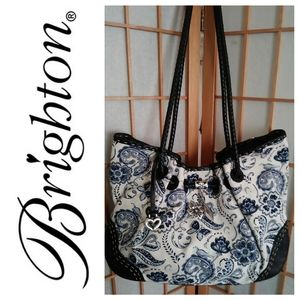 👜Brighton Leather and Canvas Lilley Purse